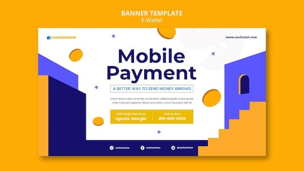 Horizontales banner für e-wallet-dienste