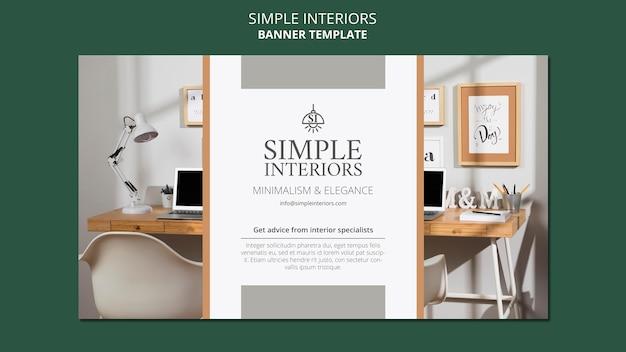 Horizontales banner für einfache innenräume