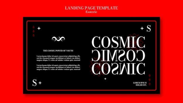 Horizontales banner für esoterische mystik