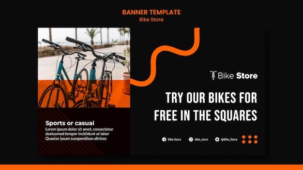 Horizontales banner für fahrradladen