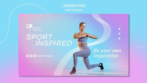 Horizontales banner für fitnesstraining