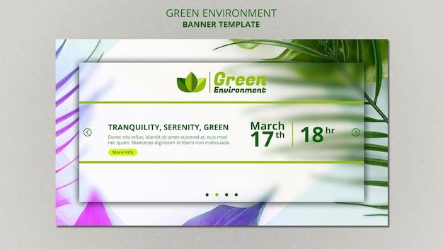 Horizontales banner für grüne umgebung