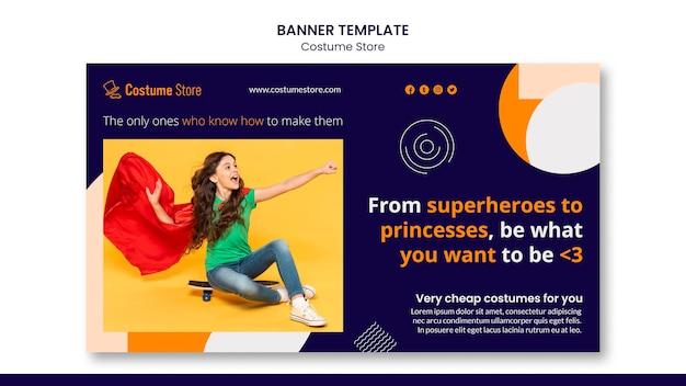 Horizontales banner für halloween-kostüme