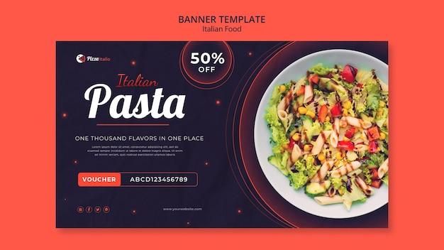 Horizontales banner für italienisches restaurant
