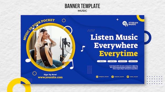 Horizontales banner für live-musik-streaming