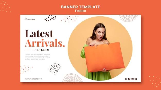 Horizontales banner für modeeinkaufsgeschäft