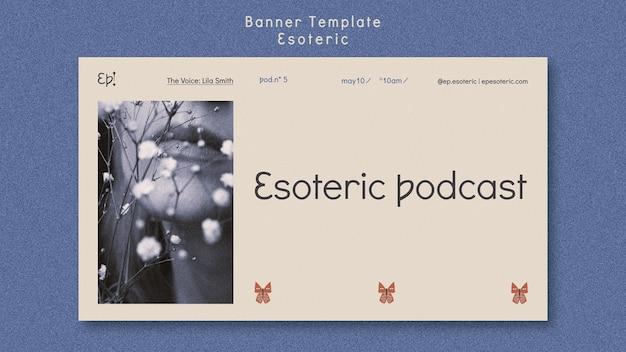 Horizontales banner für mystik und esoterik