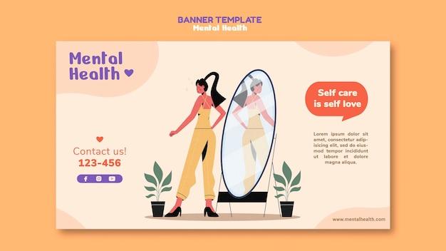 Horizontales banner für psychische gesundheit
