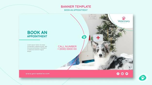 Horizontales banner für tierarzttermin