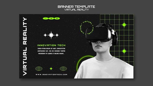 Horizontales banner für virtuelle realität