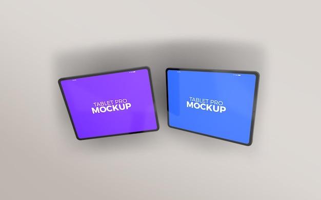 Horizontales doppel-tablet-pro-modell