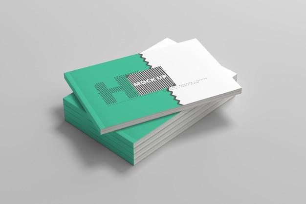 Horizontales magazin-cover-modell
