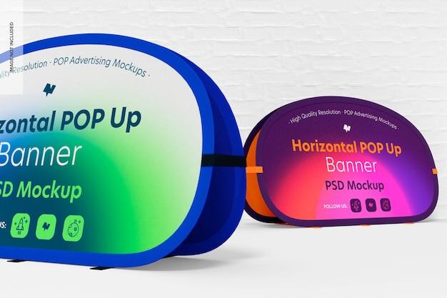 Horizontales pop-up-banner-modell, nahaufnahme