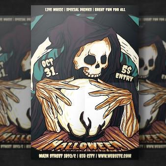 Horror halloween party flyer vorlage