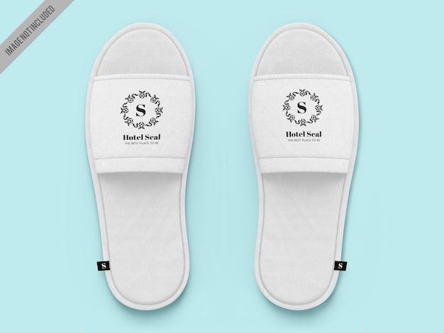 Hotel slippers mockup vorlage