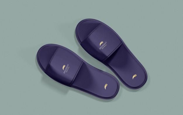 Hotel slippers mockup