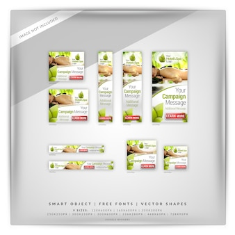 Hotel & spa google banner set