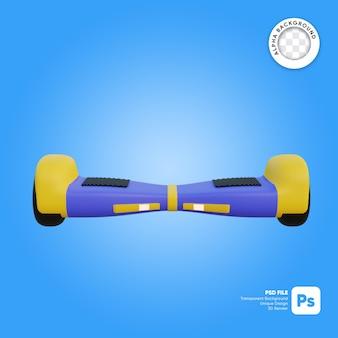 Hoverboard seitenansicht 3d-objekt