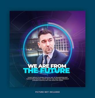 Hud futuristic style instagram banner vorlage