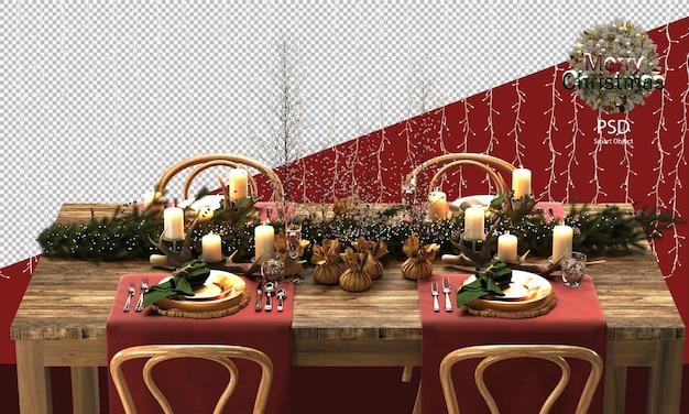 Hübscher weihnachtlicher holztisch und stühle dekorationen holzige und rustikale weihnachtstischdekorationen