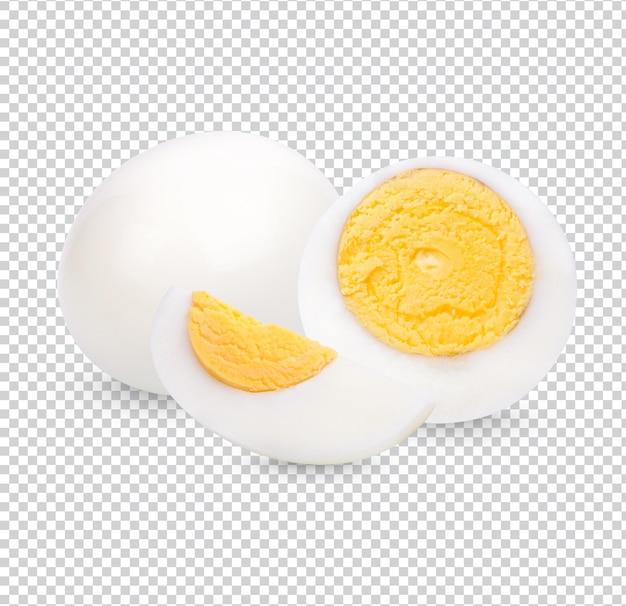Hühnerei, gekochtes ei isoliert premium psd