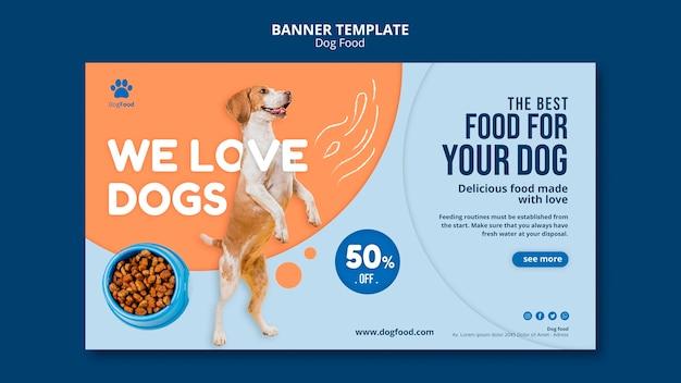 Hundefutter banner vorlage