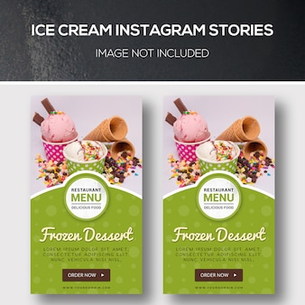 Ice cream instagram geschichten