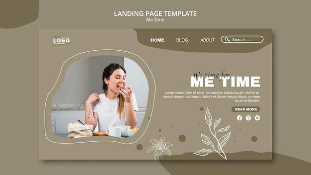 Ich zeit landing page vorlage