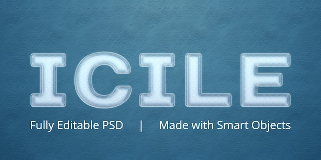 Icile-textstil-effekt