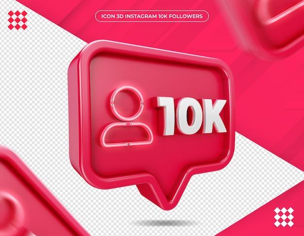 Icon 10k follower auf instagram design