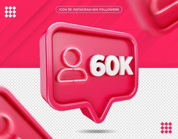 Icon 60k follower auf instagram design