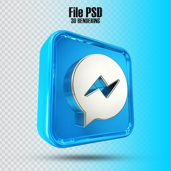 Icon messenger 3d-rendering