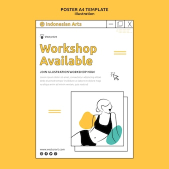 Illustration workshop poster vorlage