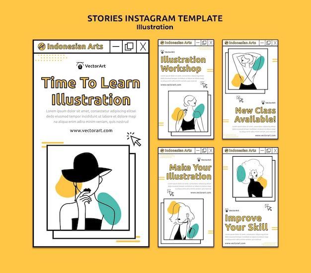 Illustration workshop social media geschichten