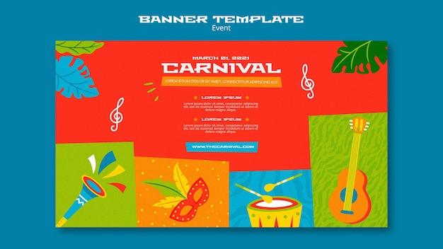 Illustrierte karnevalsfahnenschablone