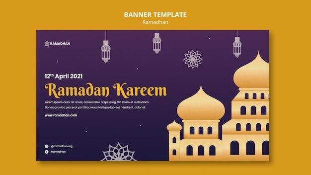 Illustrierte ramadan kareem banner vorlage
