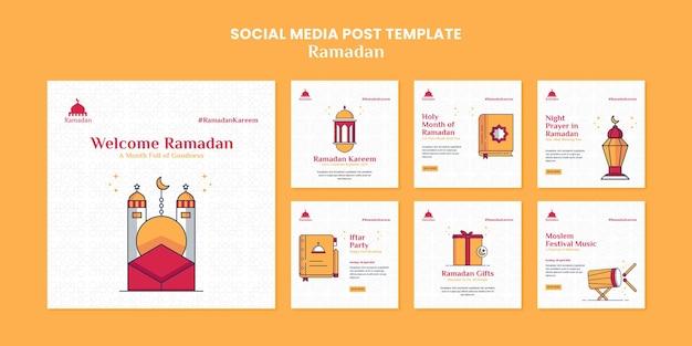Illustrierter ramadan kareem social media beitrag
