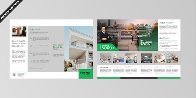Immobilien 4-seitige broschüre