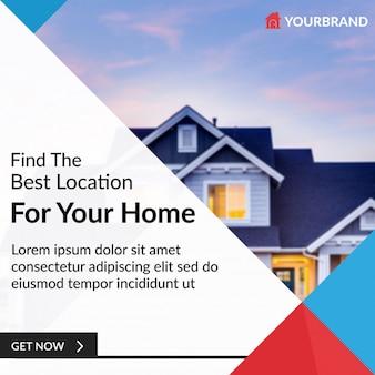 Immobilien-banner für instagram