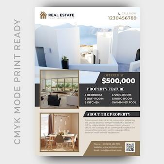 Immobilien business flyer design-vorlage