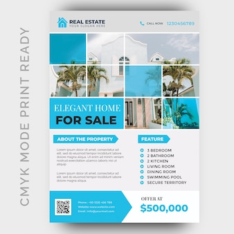 Immobilien business flyer design-vorlage