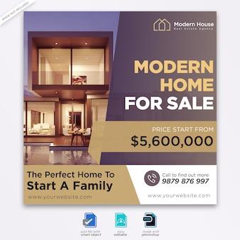 Immobilien design social media post vorlage