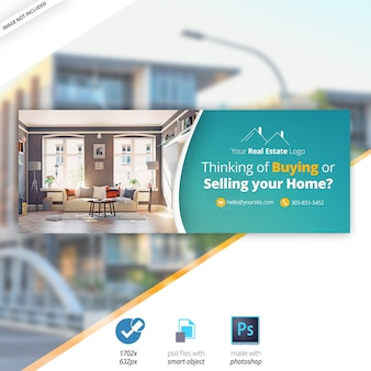 Immobilien facebook timeline cover banner