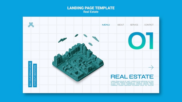 Immobilien-landingpage-vorlage