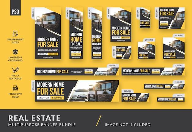 Immobilien-mehrzweck-banner-bundle-vorlage