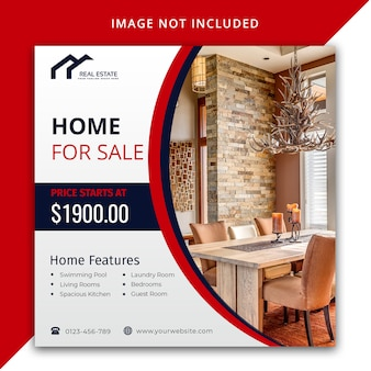 Immobilien-post-design-vorlage