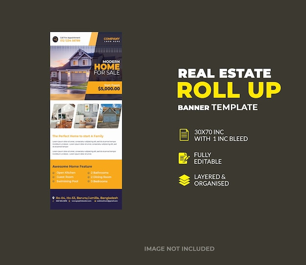 Immobilien roll up banner