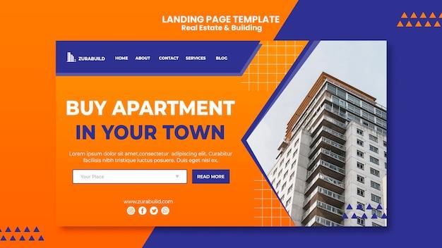 Immobilien- und gebäude-landingpage