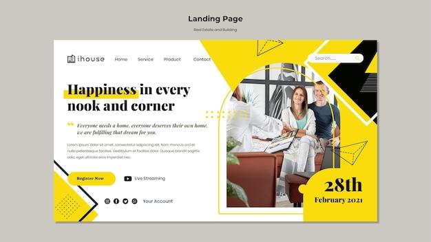 Immobilien- und gebäude-landingpage Premium PSD