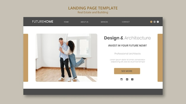 Immobilien-web-vorlage mit foto
